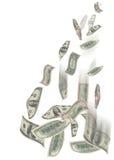 Dollar Regen Stockbild