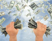 dollar regn royaltyfri fotografi