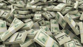 100 dollar rekeningen, camerabeweging met velddiepte stock footage