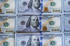 100 Dollar Rekeningenachtergrond Stock Afbeeldingen