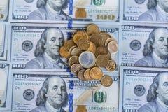 100 Dollar Rekeningenachtergrond Stock Foto's