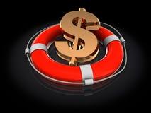 Dollar rescue Royalty Free Stock Photos