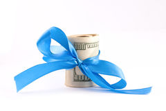 Dollar with ribbon Stock Photos
