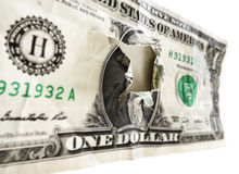 Dollar rip Royalty Free Stock Photos