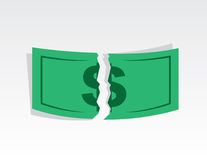 Dollar Ripped Royalty Free Stock Photos