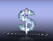 Dollar Ripples Royalty Free Stock Photo