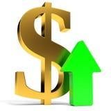 Dollar rising arrow. Royalty Free Stock Photography
