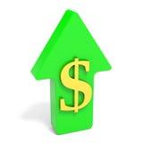 Dollar rising arrow. Royalty Free Stock Image