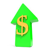 Dollar rising arrow. Stock Images