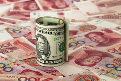 Dollar and RMB Royalty Free Stock Image