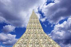 Dollar road going away to blue sky Royalty Free Stock Photography
