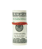 Dollar roll. Pulled together with an elastic band Royalty Free Stock Photo