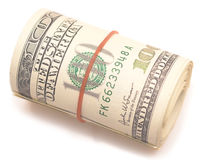 Dollar roll Royalty Free Stock Photography