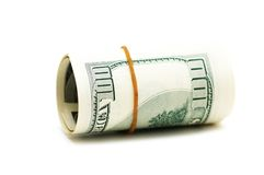 Dollar roll isolated Stock Photos