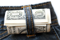 Dollar rolled Stock Photo