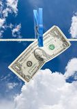 Dollar on rope Stock Photos