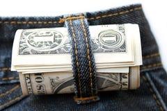 Dollar roulé Photo stock