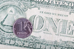 Dollar and ruble Royalty Free Stock Images