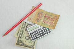 Dollar and ruble Stock Image