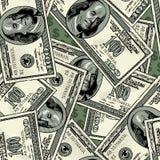 100 dollar sömlös modellbakgrund för sedlar royaltyfri illustrationer