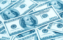 Dollar's background (blue toned) Stock Images