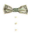 Dollar's bow-tie Stock Photo