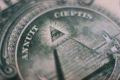 Dollar's eye Royalty Free Stock Photos