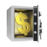 Dollar-Safe Stockfotografie