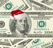 Dollar Santa Stock Image