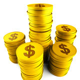 Dollar Savings Indicates American Dollars And Bank Stock Photo