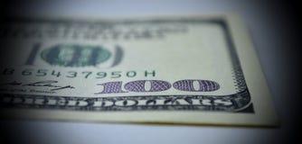 100-Dollar - Schein der Nahaufnahme Stockfotos