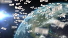 Dollar Schwimmen stock footage