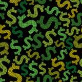 Dollar seamless background, economy and money theme vector seaml Stock Photos