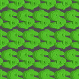 Dollar seamless pattern. Green Dollar  background. Royalty Free Stock Images