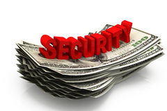 Dollar and security Stock Photo