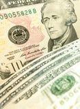 10 dollar sedel Royaltyfri Fotografi