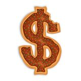Dollar shape Doughnut Royalty Free Stock Image