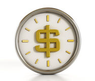 Dollar shape inside the clock Royalty Free Stock Photos