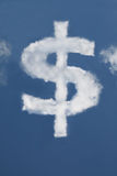 Dollar shaped Cloud Royalty Free Stock Photography