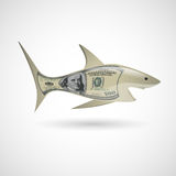Dollar shark Royalty Free Stock Image