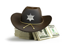 Dollar sheriff hat Royalty Free Stock Photos