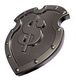 Dollar shield Royalty Free Stock Photos