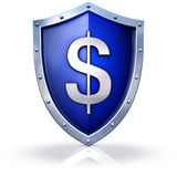 Dollar shield Stock Photo
