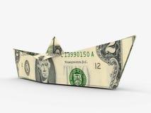 Dollar ship Royalty Free Stock Image