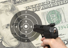 Dollar shooting Stock Photos