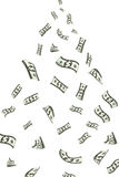 Dollar Showering Stock Images