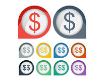 Dollar Sigh Icon Symbol Royalty Free Stock Images