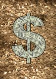Dollar sign $ Stock Photo