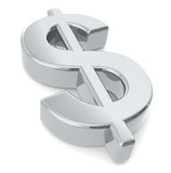 Dollar sign. A 3D dollar sign. Metal Stock Images