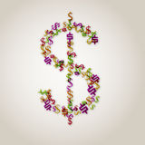 Dollar sign. Colorful illustration of a dollar sign Royalty Free Stock Image